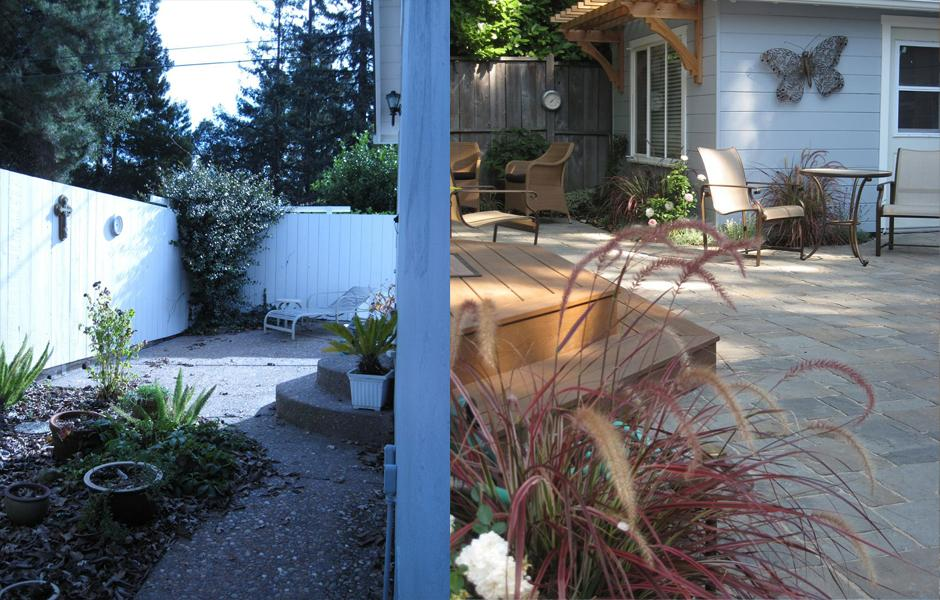 Lafayette Woodland Cottage Before and After